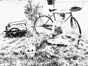 Lettrice in giardino